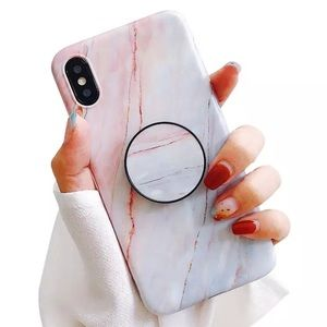 Accessories - iPhone X/XS/MAX/XR/7+/8+/7/8 Marble Popsocket Case